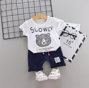 2019 ילדים של חליפת צעיר בגדי ילדים בגדי בני ובנות ספורט cartoon חולצה + מכנסיים בגדי תינוקות