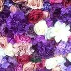 SPR закатать цветок из текстиля стены 4ft * 8ft Искусственный Свадебный случай фон цветочный орнамент украшения Бесплатная доставка - 3