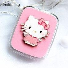 Милый дизайн hello kitty чехол для контактных линз впитывающая коробка для хранения макияжа yey-D2003