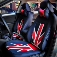 Car Sport Union Jack Navy Seat Covers For Benz Smart 4 Door 2015 2016 2017 Car