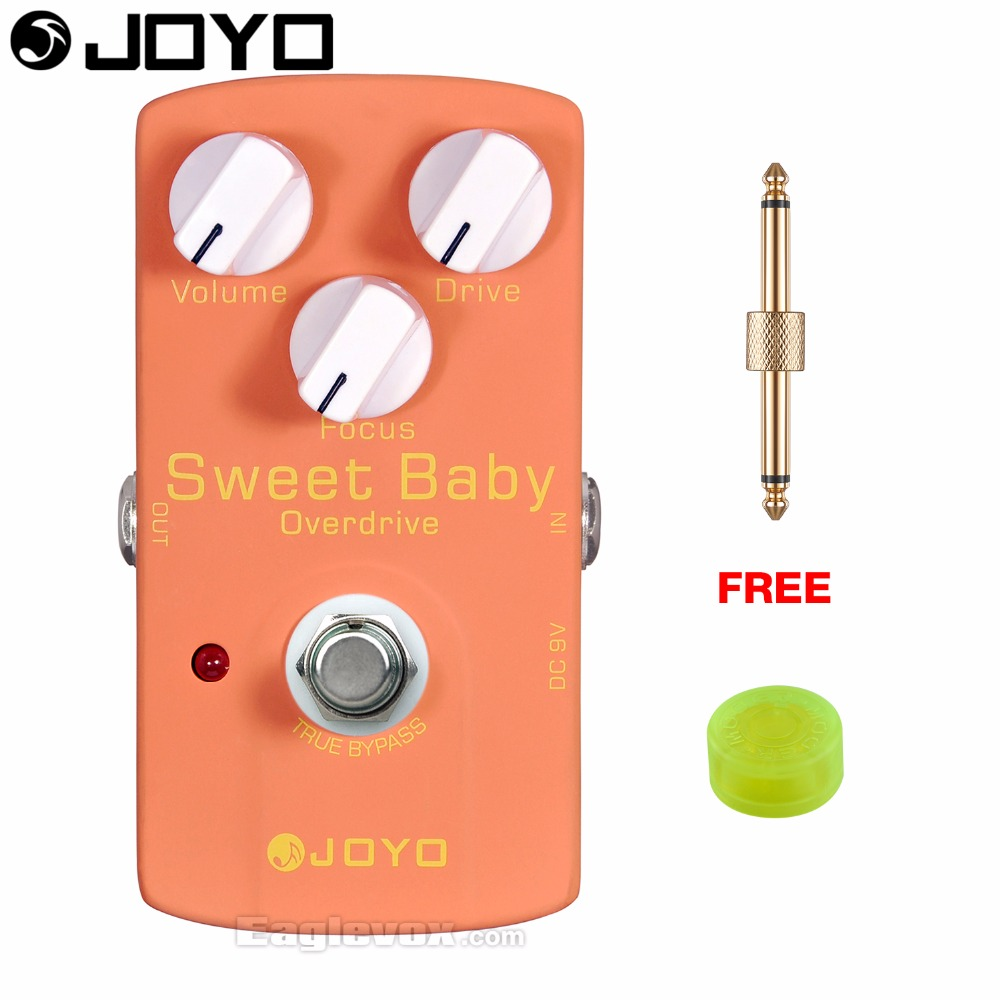 JOYO JF-36 Sweet Baby Electric Guitar Effect Pedal True Bypass with Free Connector and Footswitch Topper mooer hustle drive distortion guitar effect pedal micro pedal true bypass effects with free connector and footswitch topper