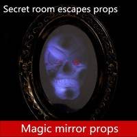 real life games escape room props Magic mirror horror game terror Thematic organ props