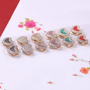Image 4 - WEIYU Broche Para As Mulheres Exquisite Rhinestone da Forma Do Coração Magnético Forte Ímã Pin Broches Lenço Muçulmano Abaya Hijab Cachecol