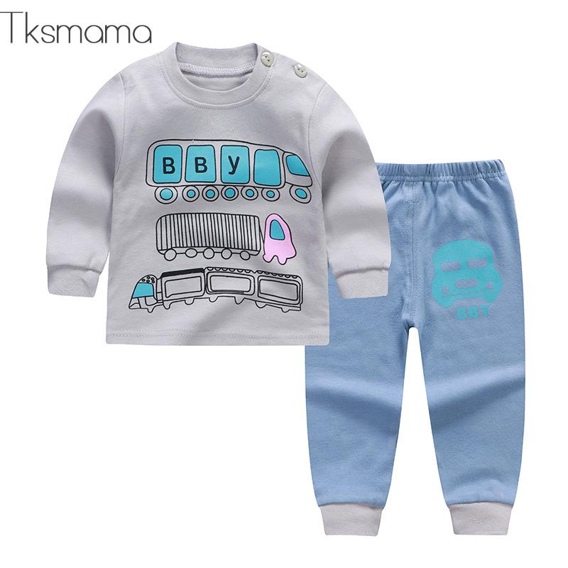 2019 Wintwe Infant Baby Boy Clothing Sets Sports Tracksuit. Unisex Newborn Clothes Cotton Baby Wear Zjs00013