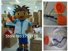 Adult explorer boy diego mascot costume fast shipping