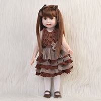 Free Shipping 2015 New Design American 18 Inch Girl Doll Full Silicone Collectible Smiling Baby Toys