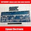 EGP3000W 3 fase inversor de onda senoidal pura potência do inversor PCB placa de excitador SPWM EG8030 UPS EPS + EGS031