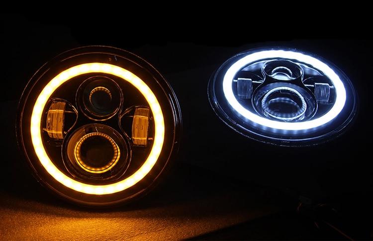 7inch 40w Avto թեթև Wrangler JK LED լուսարձակող - Ավտոմեքենայի լույսեր - Լուսանկար 5