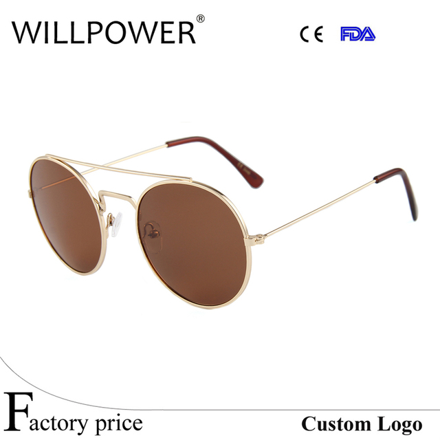 1037e975844f Fashion Sunglasses Women Brand Designer Small Frame brown lens Sunglasses  Men Vintage Sun Glasses Metal Frame