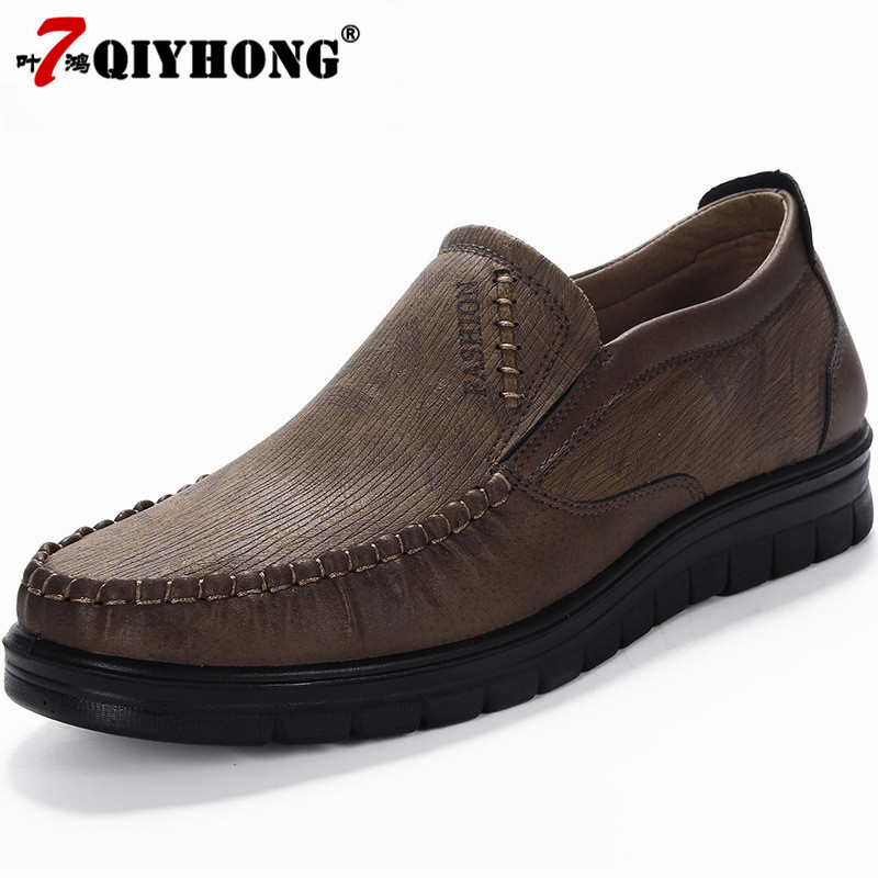 Mens Casual Shoes Famous Brand Plus Size Walking Shoes Slip On Flat Shoes Male Footwear   Leather   Men's   Leather   Shoes Zapatillas