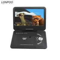 LONPOO Draagbare Dvd-speler 10.1 inch Dvd-speler met TFT LCD Screen Multi media dvd-speler Met Analoge TV en game functie