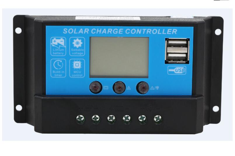 Solar Charge Controller 20a 12v/24v Auto LCD Display For Flexible Solar Panel 100W-200W