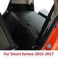 Объемный автомобильный коврик для багажника Противоскользящий грузовой вкладыш для Smart Fortwo 2015 2016 2017 интерьерная противогрязная Накладка а...