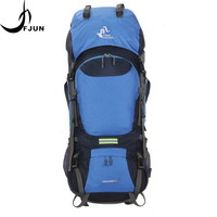 60L Large Capacity Nylon Waterproof Backpacks Molle Travel Hiking Camping Climbing Mountaineering Outdoor Sport Bag FK31