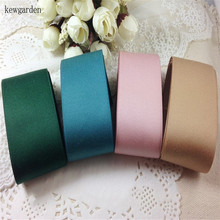 Kewgarden 38mm 3.8CM Matte Cotton Satin Ribbon Handmade Tape DIY Bow Accessories Ribbons Riband  8 m/lot kewgarden handmade tape 1 1 2 38mm thick soft cotton fabric satin ribbon diy bow tie brooch ribbons double face riband 8 meter