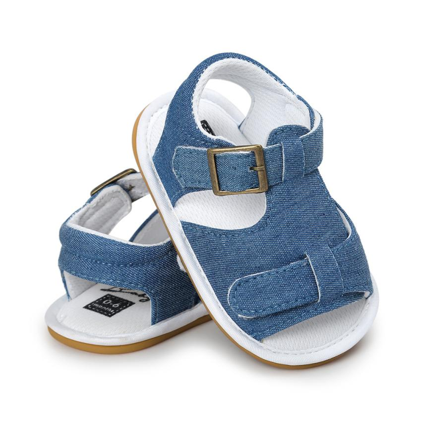 TELOTUNY 2018 Summer Boys  Sandals Shoes Baby Boys Sandals Shoe Casual Shoes Sneaker Anti-slip Soft Sole Toddler     5.4