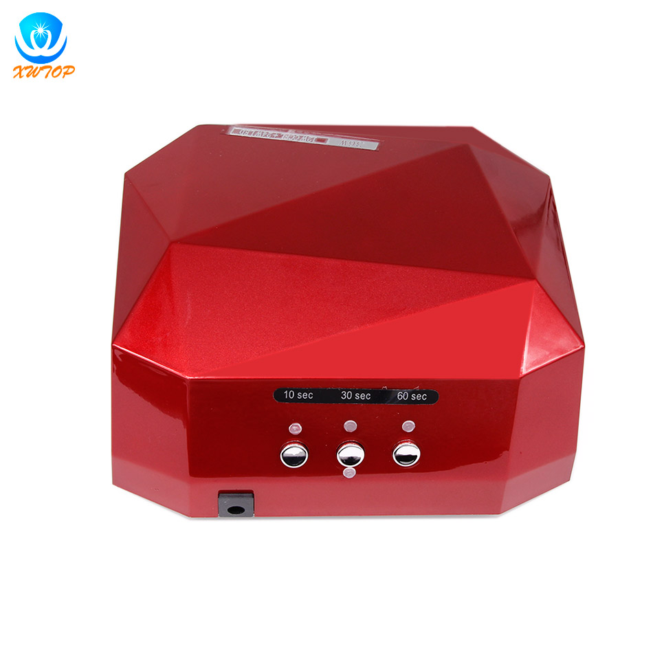 36W LED Light Lamp UV Nail Art Dryer Curing CCFL Gel Polish Timer 10s 30s 60s