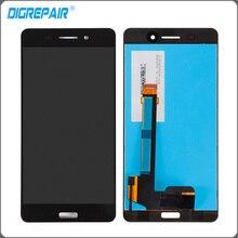 Nueva Negro Para Nokia 6 Pantalla LCD Touch Panel Digitalizador de Pantalla Completa Asamblea de Cristal Piezas de Recambio Envío Gratis