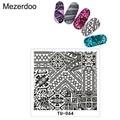 Mezerdoo Illusion Pattern Nail Art Stamp Stamping DIY Manicure Template Image Plate Nail Polish Tools M12
