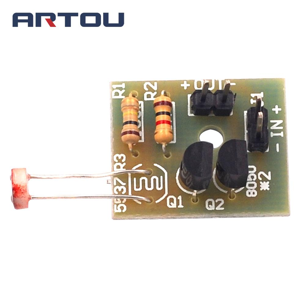DIY Kit Light Control Sensor Switch Suite Photosensitive Induction Switch Kits DIY Electronic Trainning Integrated Circuit Suite