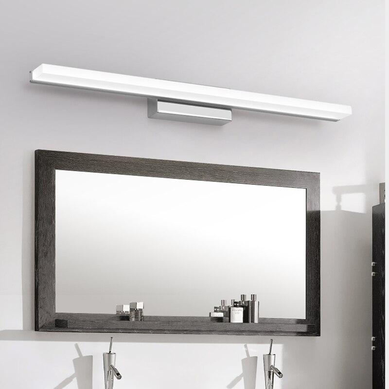 Moda Xətti Akril LED Güzgü İşıq 0.4M ~ 1.5M Ağ Lampshade Hamam - Daxili işıqlandırma - Fotoqrafiya 3