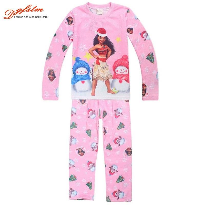 Moana Kids Cosplay T shirt T-shirt Pants Christmas Pajamas Children Home Clothing Sleepwear Set
