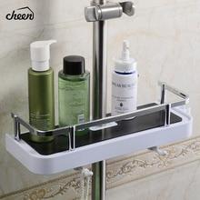 Cheen Bathroom Shelf Shower Storage Rack Holder Shampoo Bath Towel Tray Home Shelves Single Tier Head