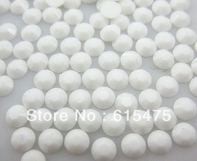 3mm White Color SS10 crystal Resin rhinestones flatback,Nail Art Rhinestones,100,000pcs/bag 10pcs triangle plastic rhinestones beads crystal nail art sorting trays accessory white nail art tool