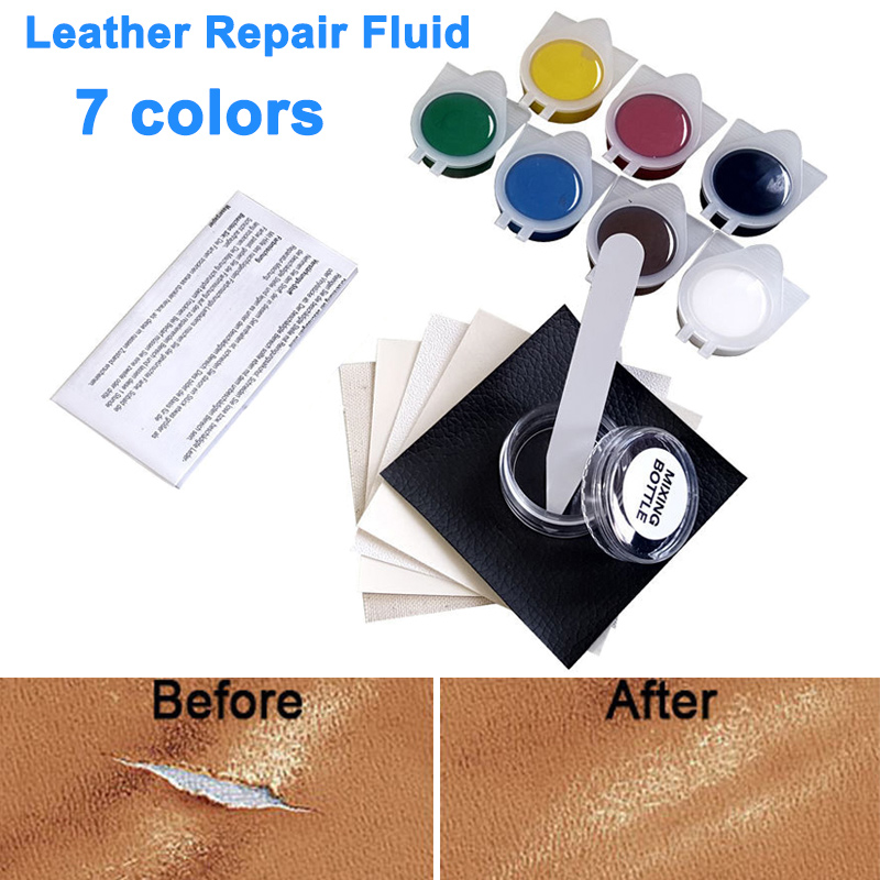 New Leather Repair Tool No Heat Liquid Repairing Tool Kit Universal Car Seat Leather Sofa Repair Kit image