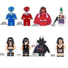 Single Superman Electric Blue Red Scarlet Witch Stripper Joker Batman Deadpool The Flash Figure building block toys for children