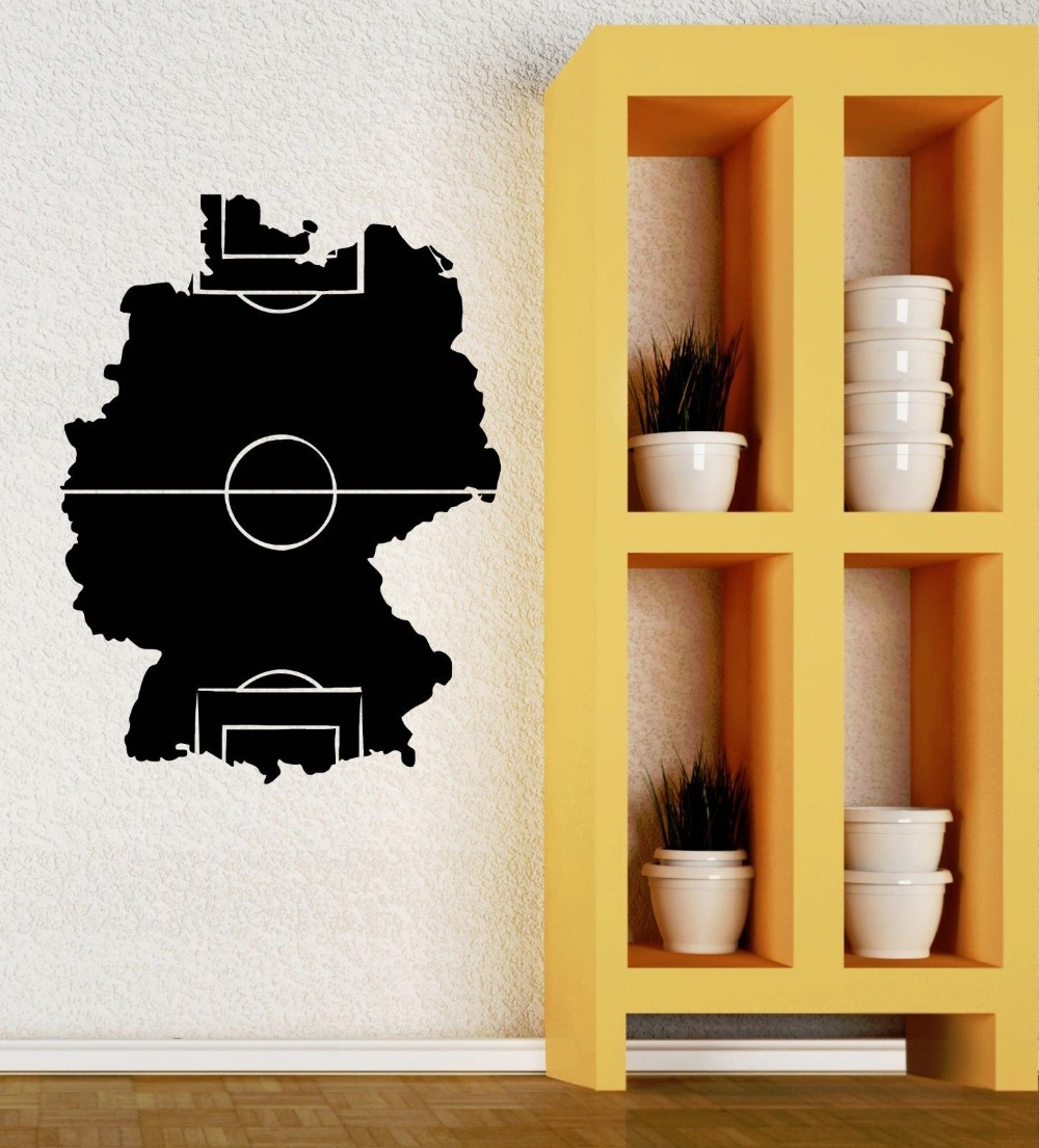 Special Soccer Field Silhouette Art Design Wall Mural Boys Room ...