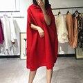 LANMREM 2020  Корейская Весенняя летняя плиссированная одежда для женщин  прямое свободное платье большого размера  необычное платье  высокое ка...