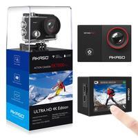 AKASO EK7000 Pro 4 K Экшн-камера с сенсорным экраном EIS регулируемый угол обзора 40 м Водонепроницаемая камера Пульт дистанционного управления Спорт...
