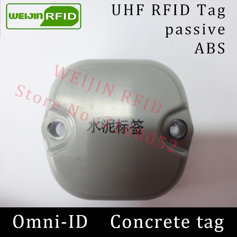 UHF RFID Concrete tag omni-ID metal 915mhz 868mhz Impinj Monza4QT EPCC1G2 6C durable ABS smart card passive RFID beton tags
