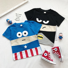 2019 New baby Boys and girls stereo cartoon pull-style T-shirt short sleeve Top  thanksgiving  skull long sleeve t-shirt long sleeve skull cutout t shirt