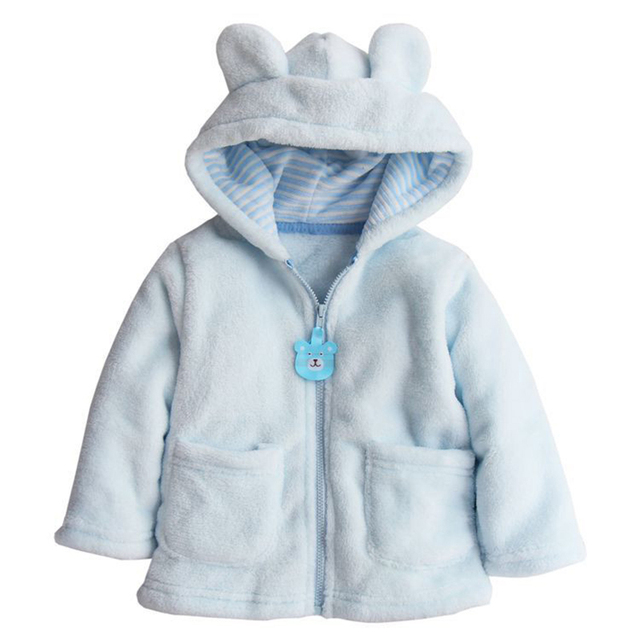 Baby Boy Girl Hoodies Coat Thick Tops Children Outerwear