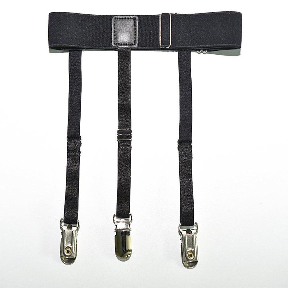 2 Pcs Men Shirt Stays Belt With Non-slip Locking Clips Keep Shirt Tucked Leg Thigh Suspender Garters Strap TY66
