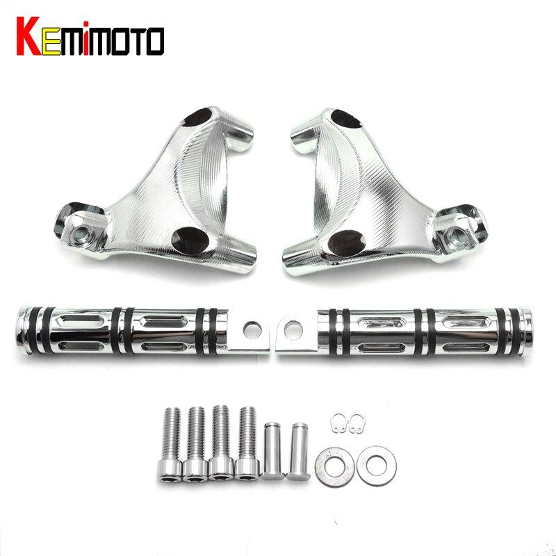 Мотоцикл KEMiMOTO подножки заднего пассажира подножки хром набор для Спортстер 883 и 1200 2006-2013 аксессуары