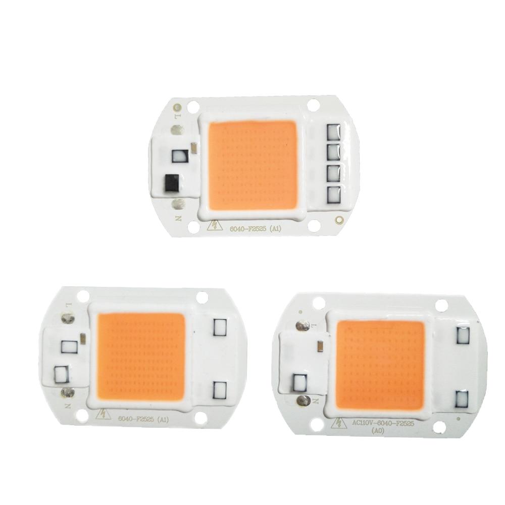 تراشه لامپ 2Pcs / Lot LED Grow Light Light طیف کامل 220V 110V 20W 30W 50W برای رشد نهال گیاهان داخلی و گل سبز
