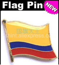 Exceptional Lapel Pins Colombia Flag Pins All Over The World Badge Emblem Country State  Pins(China