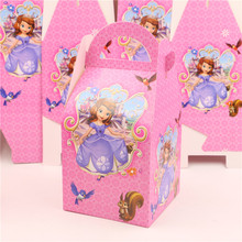 event party supplies paper candy return gift box with handle birthday decor baby shower favor box