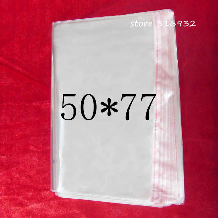 Large Clear Resealable Cellophane BOPP Poly Bags 50 77cm Transparent Opp Bag Packing Plastic Bags Self