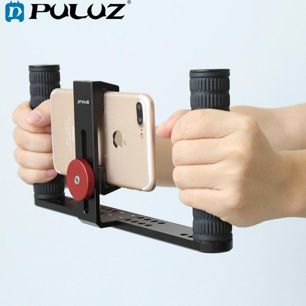 PULUZ HandheldRig cine haciendo Rig estabilizador/Steadicam soporte cuna Clip de teléfono para iPhone teléfonos inteligentes Video plataforma