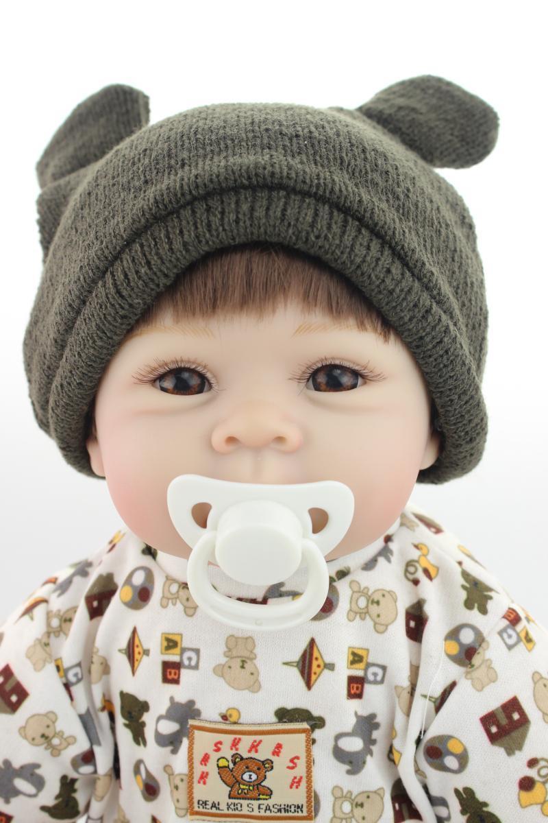"22"" Handmade Lifelike Reborn Dolls Silicone Vinyl Baby Boy Doll + Gift Pacifier"