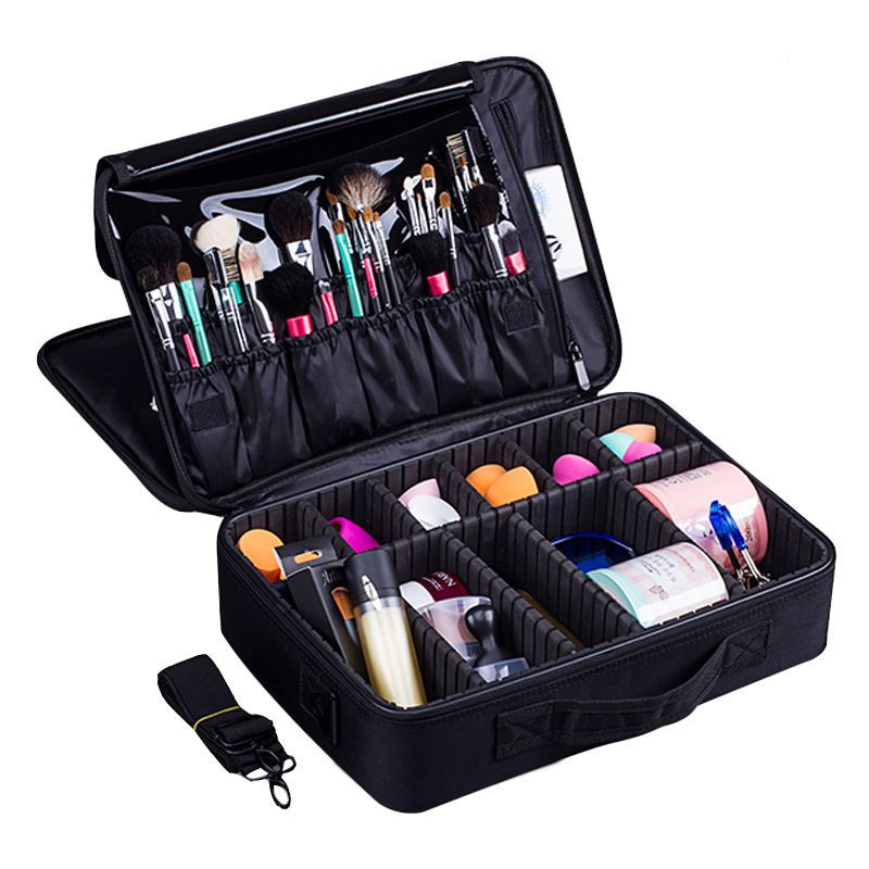 New Fashion Cosmetic Bag Travel Makeup Organizer Cosmetics Pouch Bag High Quality Make Up Bag Professional Cosmetic Makeup Case цена