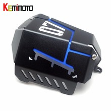 KEMiMOTO MT07 FZ07 Coolant Recovery Tank Shielding Cover For Yamaha MT-07 FZ-07 MT 07 FZ 07 2014 2015 2016 2017(China)