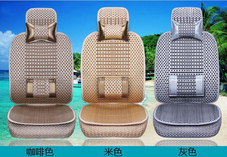 La almohadilla de cojín de coche de tamaño universal se adapta a la mayoría de autos solo cojín para asiento frío de verano cuatro estaciones en general cubierta de asiento de coche - 4