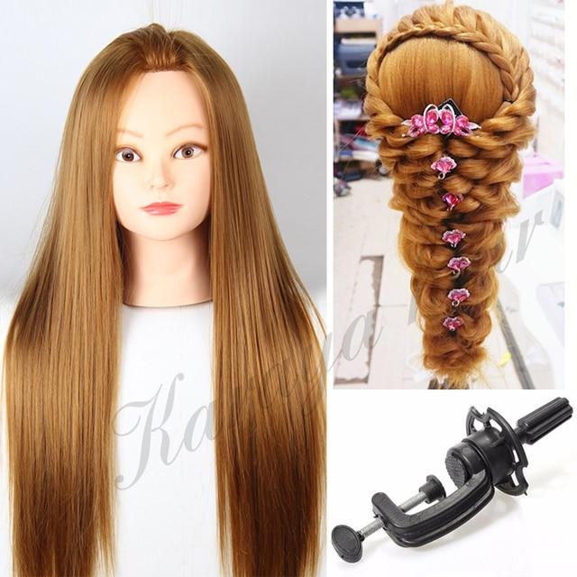 Blonde Hair Hairdressing Manikin Training Head With Wig Heat