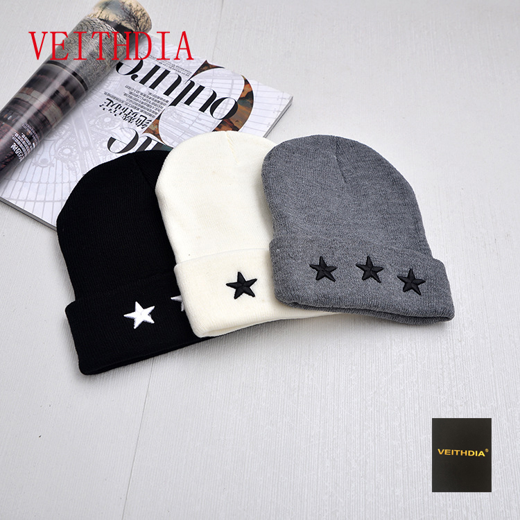 VEITHDIA New Arrival Winter Men's Knitted Hat Fashion Hats Knitted Hat Men Hedging Cap Bonnets Gorros De Punto Hombre 438 2017 winter women beanie skullies men hiphop hats knitted hat baggy crochet cap bonnets femme en laine homme gorros de lana