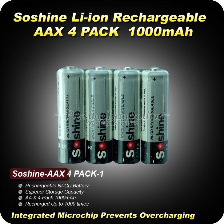 4PCS High Power Ultimate AA lithium Ni CD battery AA